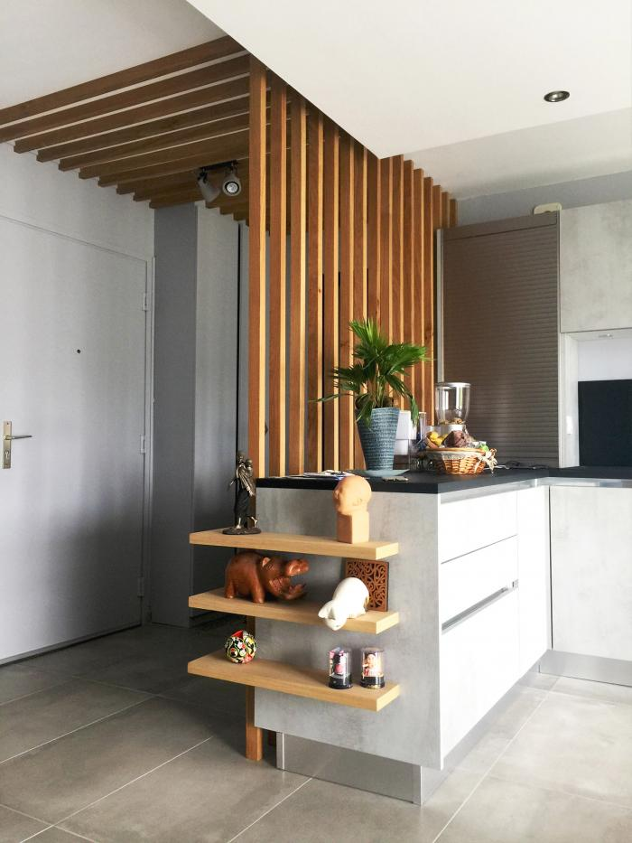 cuisine réalisation d'une cuisine à lyon 8 par Architéa 69 Lyon Ouest