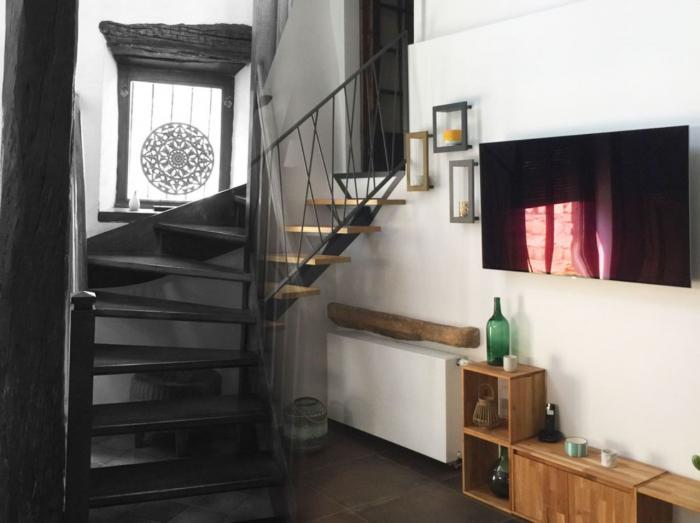 Rénovation d'une Maison à Tarare (Rhône) | Architecture d'intérieur,Rénovation,Escalier,Mezzanine,Maison,Campagne,Tarare,Lumière,Architéa,Chantier,Bois,Design