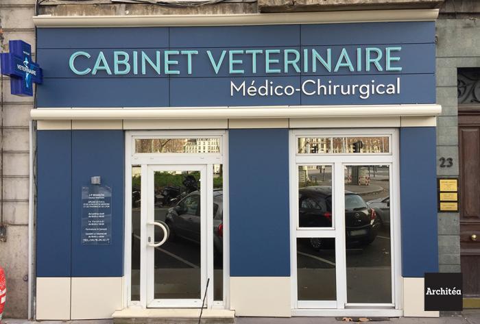 vétérinaire rénovation façade d'un cabinet vétérinaire à lyon par Architéa 69 Lyon Ouest