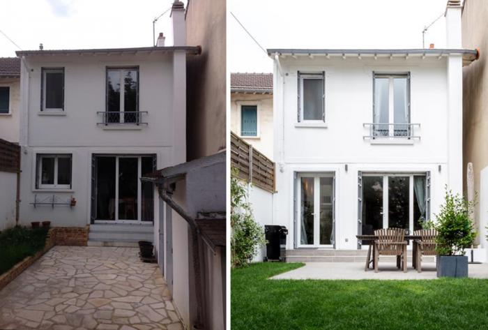 extérieur rénovation façade et cour extérieure à grenoble par Architéa 38 Isère Grenoble