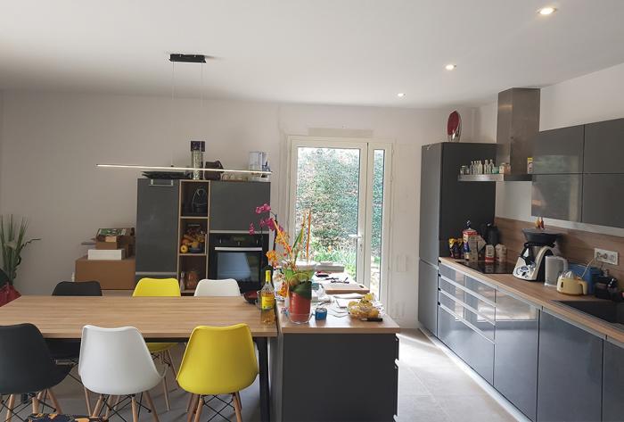 rénovation rénovation complète du rdc d'une villa à mionnay par Architéa 69 Lyon Ouest