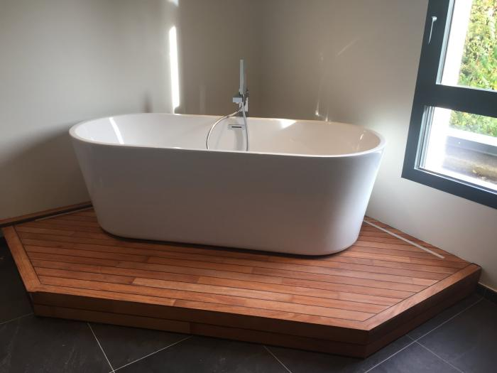 rénovation aménagement de deux salles de bain à douvres la délivrande par Architéa 14 Calvados