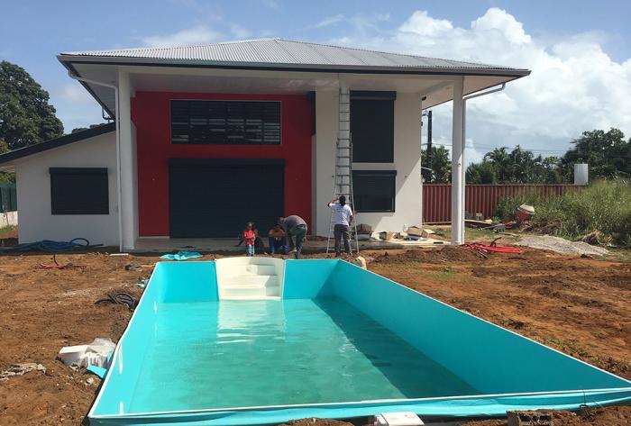 rénovation aménagement en cours d'une villa de 250m² en guyane par Architéa 973 Guyane