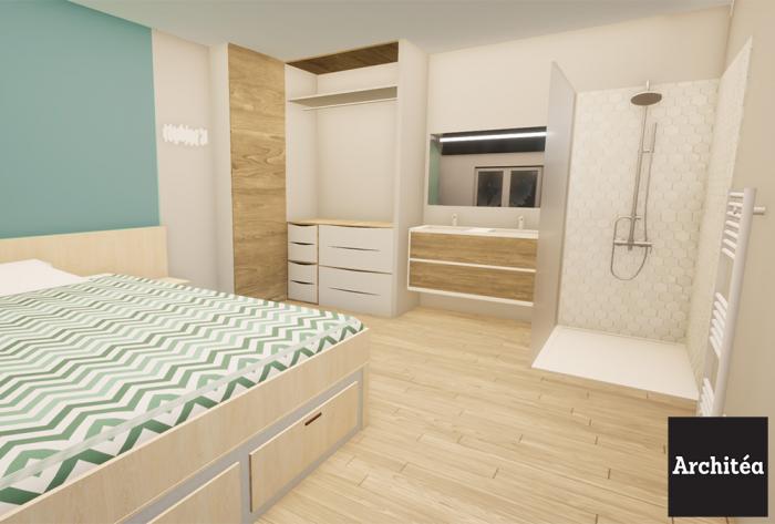 rénovation rénovation d'un appartement à lyon par Architéa 69 Lyon Est