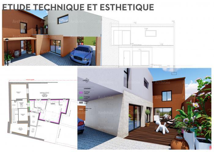 agrandissement agrandissement de maison dans le beaujolais par Architéa 69 Lyon Ouest
