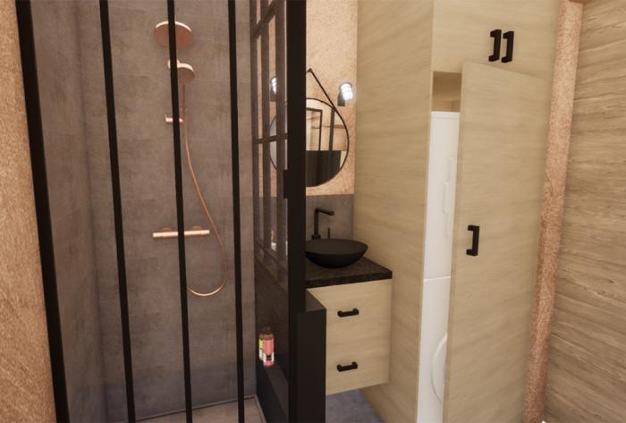 cuisine rénovation d'une salle de bain à lyon par Architéa 69 Lyon Est