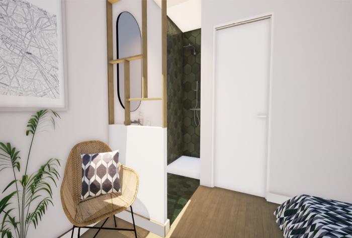 rénovation etude de rénovation d'une salle de bain par Architéa 46 Lot Cahors