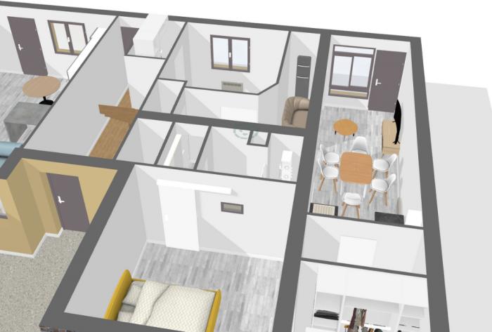Architéa Mayenne | Rénovation complète d'un appartement | amenagement, renovation, architecture, habitat, appartement, chambre, cuisine, agencement, laval
