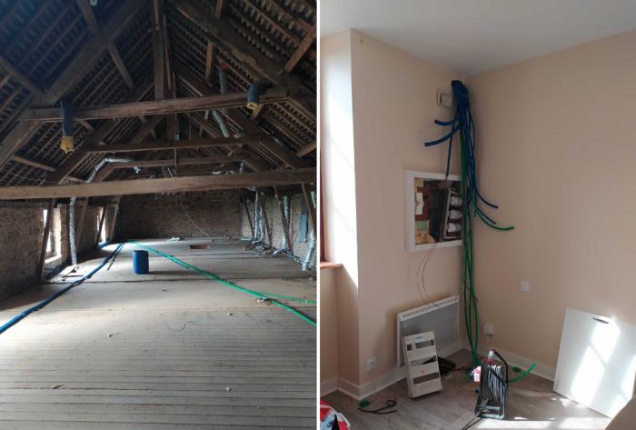 Architéa Mayenne | Rénovation complète d'une maison | amenagement, renovation, architecture, habitat, maison, chambre, cuisine, agencement