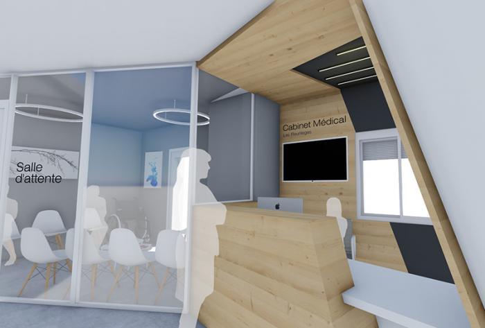 domaine médical etude d'aménagement d'un espace accueil - cabinet médical par Architéa 69 Lyon Ouest