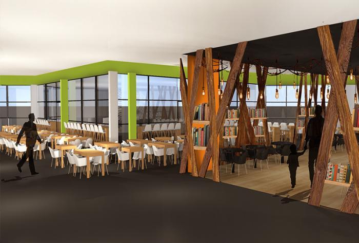 chr etude d'aménagement d'une cafétéria à lyon par Architéa 69 Lyon Ouest