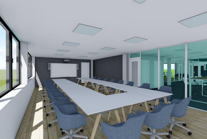 tertiaire etude de réagencement de bureaux à lyon par Architéa 69 Lyon Ouest