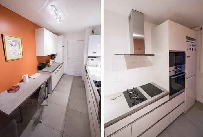 cuisine réalisation d'une cuisine à lyon 6 par Architéa 69 Lyon Ouest
