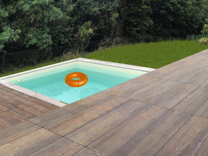 extérieur réalisation d'une piscine à jassans-riottier dans l'ain par Architéa 69 Lyon Ouest