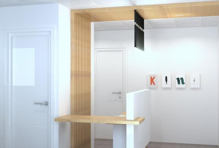 domaine médical etude 3d d'aménagement d'un kiné à st priest par Architéa 69 Lyon Ouest
