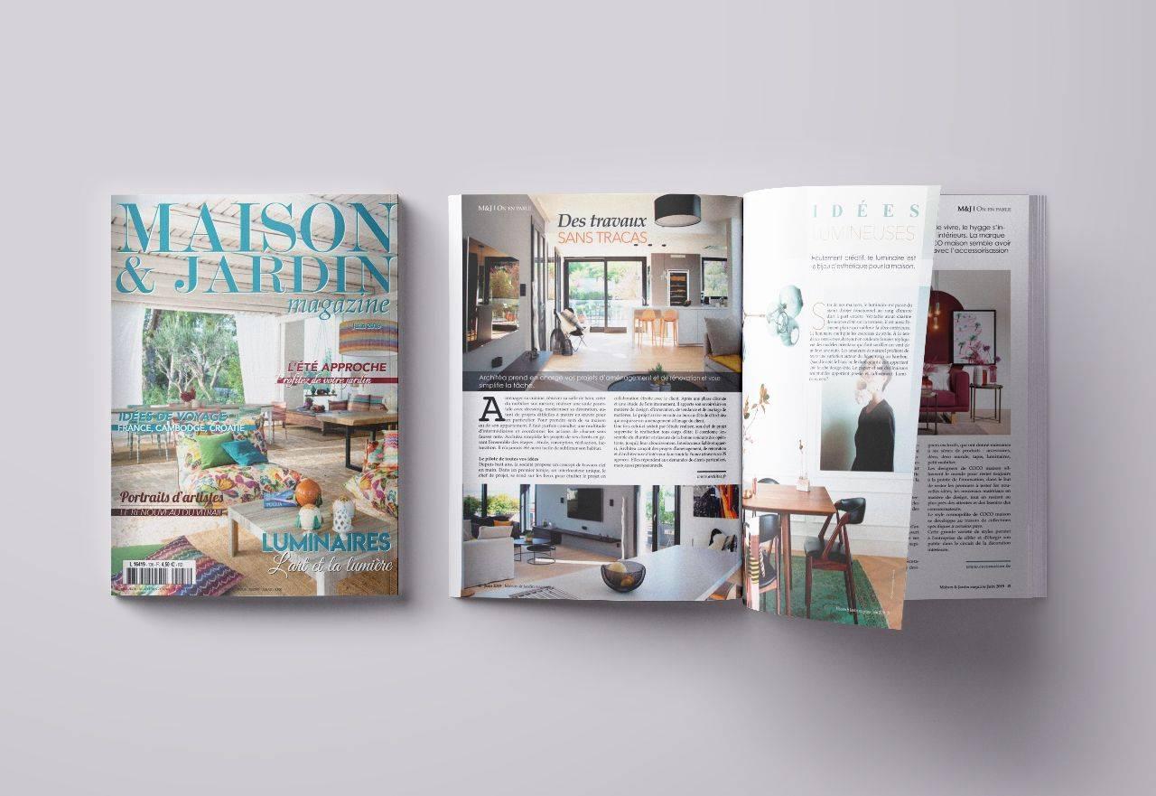 Architéa dans Maison & Jardin Magazine - édition juin 2019