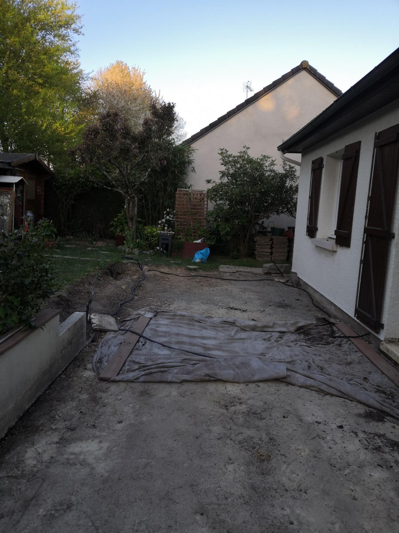 dépose de l'ancienne terrasse