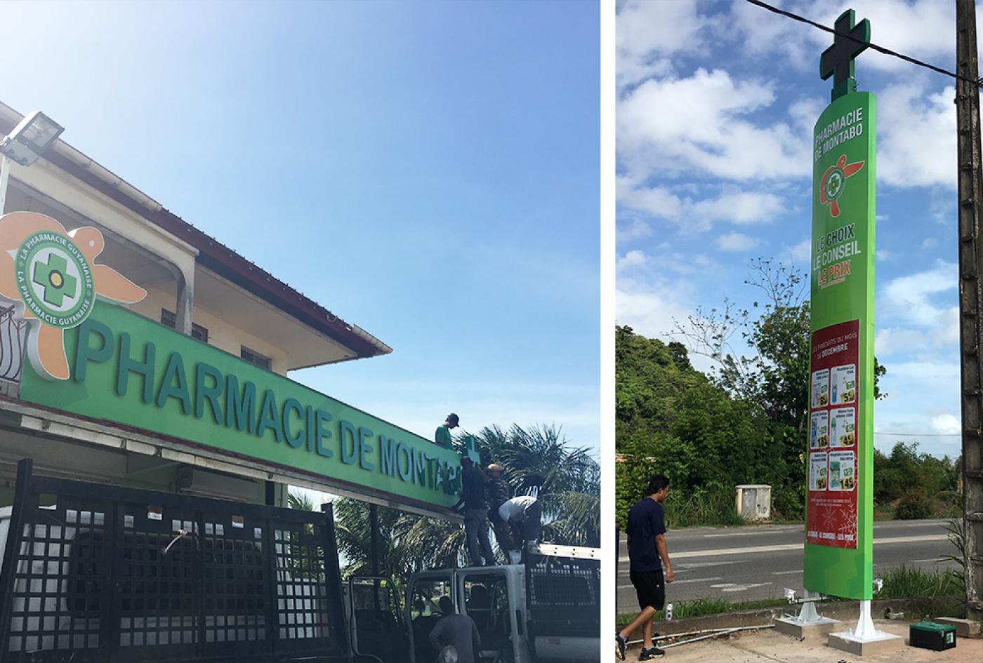 rénovation façade pharmacie Guyane