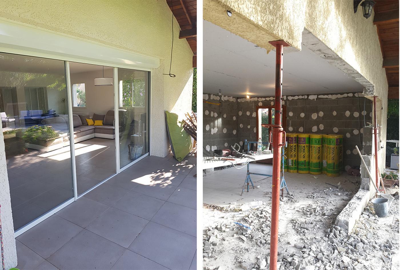 rénovation ouverture mur porteur