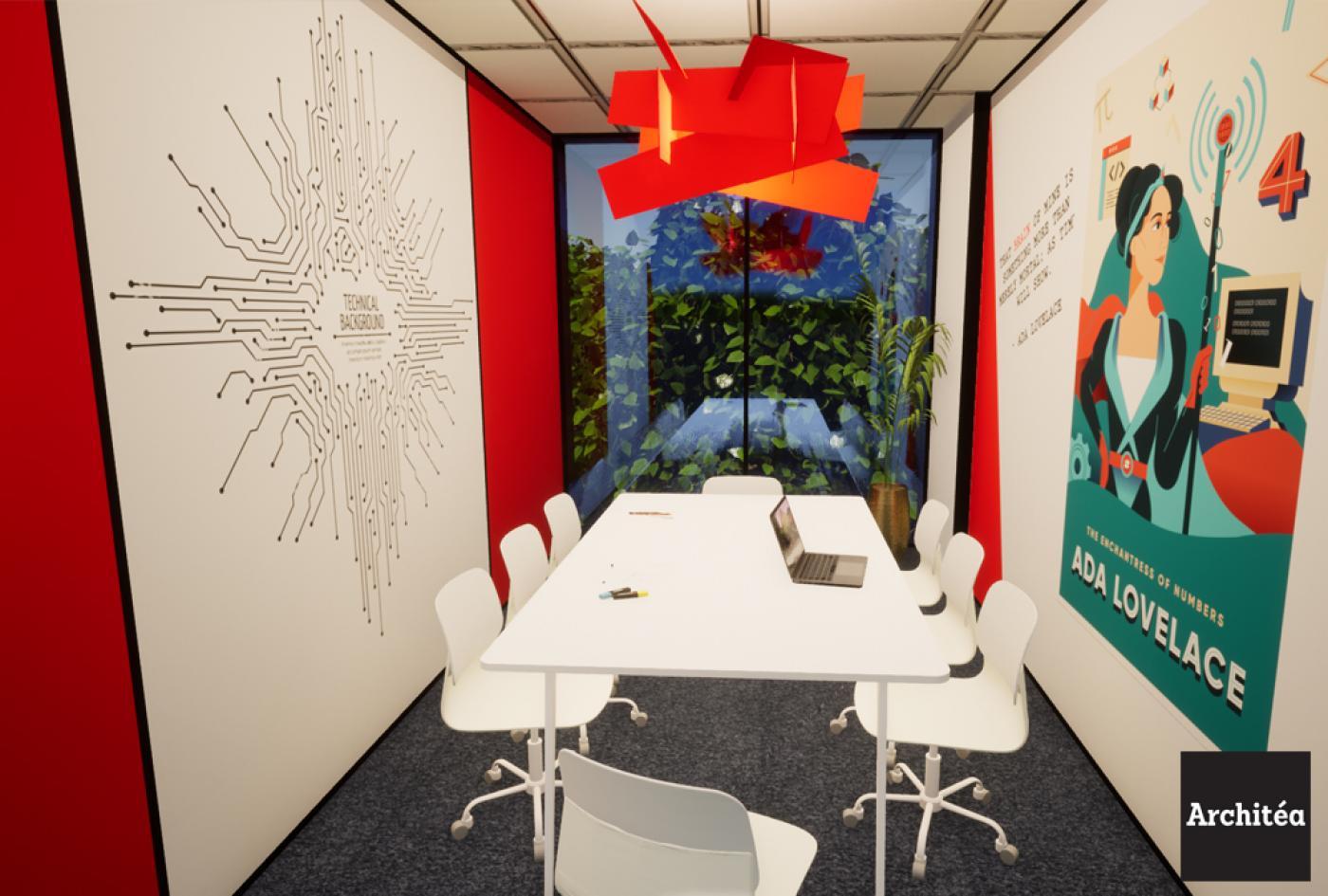Aménagement intérieur salle de réunion