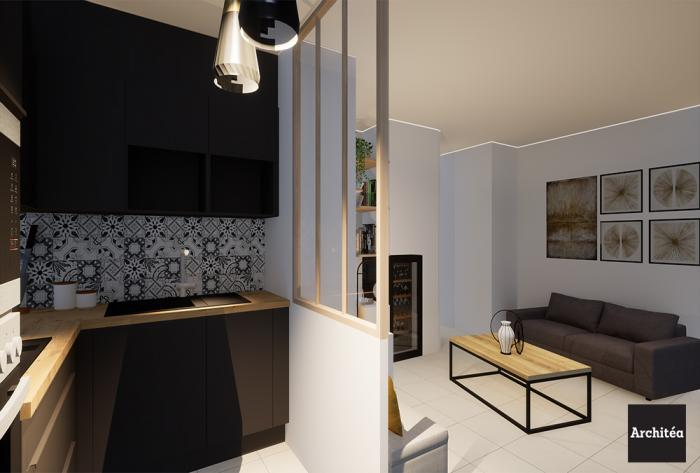 Rénovation d'une cuisine et d'un salon à Lyon